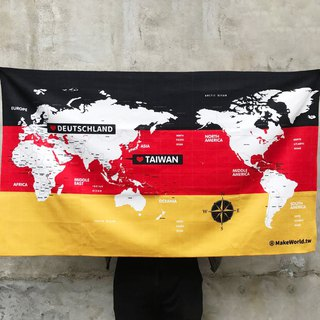 Make World Map Manufacture of Sports Bath Towels (Germany)