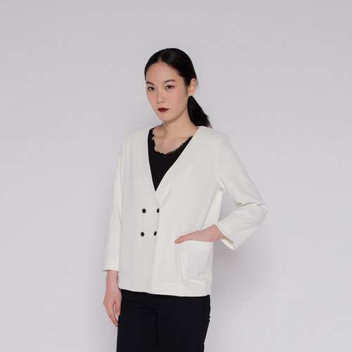 Tagline double jacket Statement Double Breasted Blazer Beige