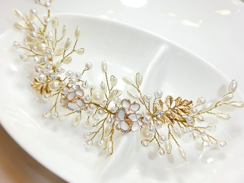 C-0608-002- pearl headdress foliage -Cash.b