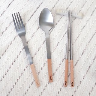 [KROLL] pure titanium home group - Maple (fork + spoon + chopsticks)