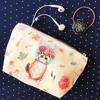 Storage bag / Cosmetic / Pencil ★ ★ glass balls cat lady cat