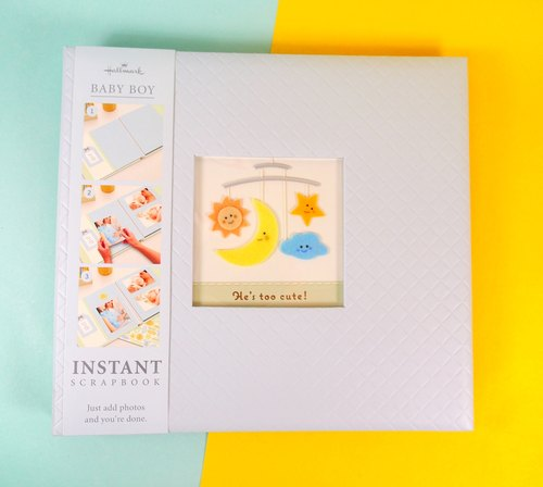 Full color pages exquisite Scrapbooking baby with this baby blue L