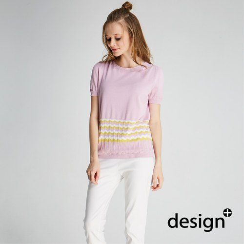 Seamless corrugated sweater (quartz powder) (1701KT02RE-S)