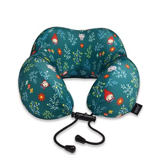 Murmur Rolling Neck Pillow / Little Red Riding Hood Green NP018