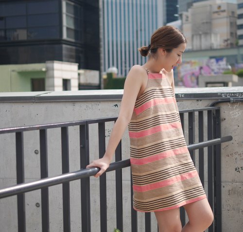 NEW! Lasie dress - Pink stripes
