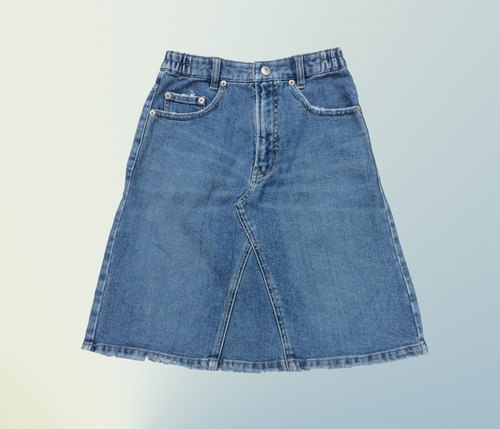 Ancient Cave firm │MINI blue brushed │ vintage denim skirt