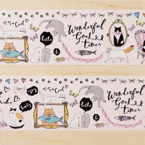 Aimez le style wild deer US paper tape - King Cat World Wide W: 100mm <A05717>