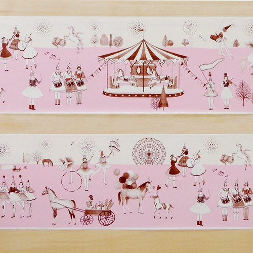 Aimez le style wild deer US paper tape - Secret Garden King Wide W: 100mm <A05595>