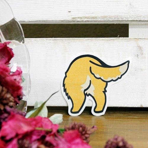 [Reflective stickers] ass Golden Retriever Golden Retriever's Butt 6.3 * 5.4 cm