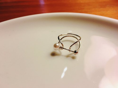 925 Silver imitation pearl sterling silver ring shape