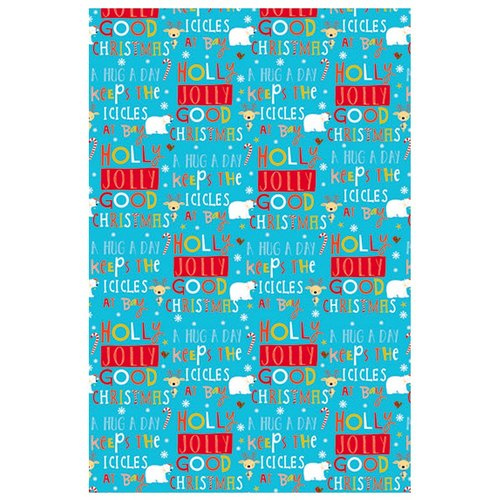 Blue green Christmas / Christmas wrapping paper roll