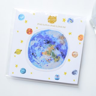 Galaxy Collection-  Earth transparent waterproof PVC sticker