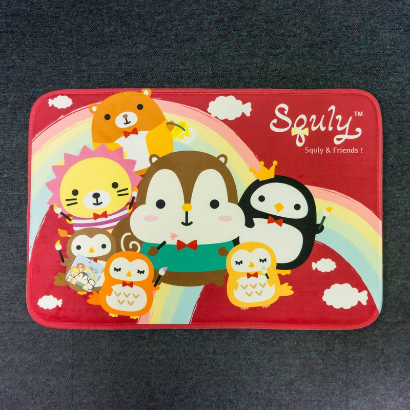 Squly & Friends Carpet (painting rainbow in red) - G008SQH