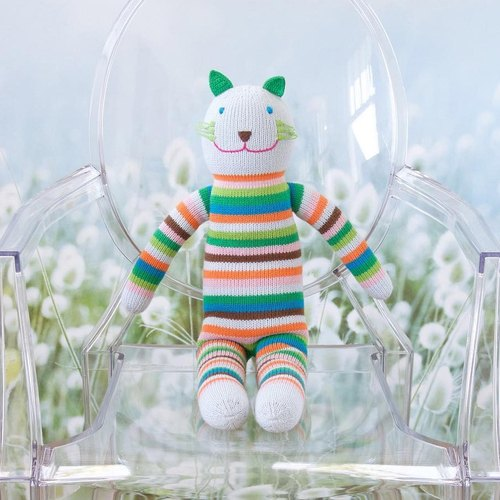 American Blabla Kids | Cotton Knit Dolls (Large Only) - Striped Cat 1-05-001