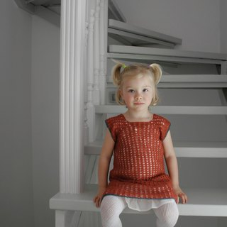 Organic crochet girl dress, handmade dress, flowergirl dress, eco-friendly