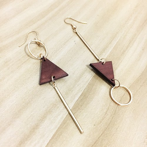 ◙ can change the folder type small high-profile wood geometric fall earrings