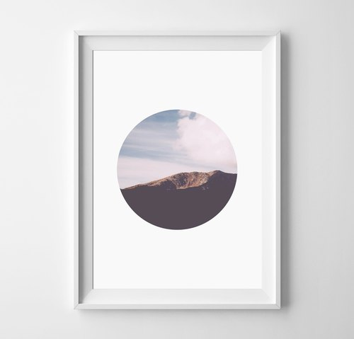 Circle Customizable Hanging Poster
