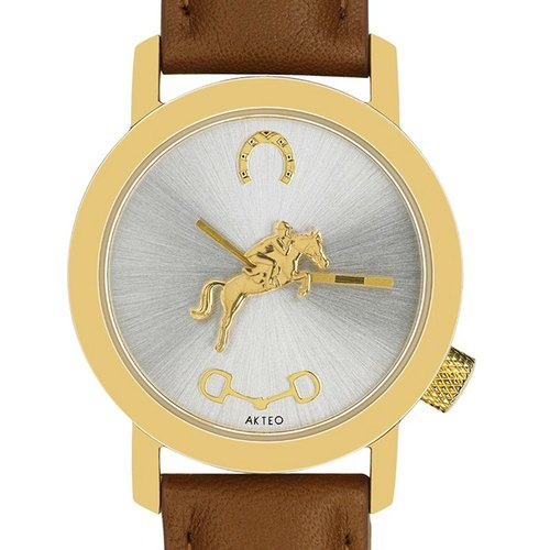[AKTEO] French design watch equestrian series gold (34mm) new