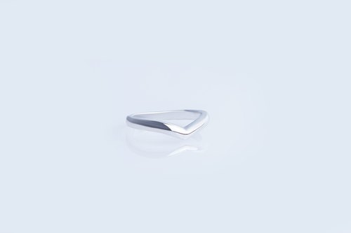Cheng [the trip] (send lettering) edge. Simple ring. 925 sterling silver rings
