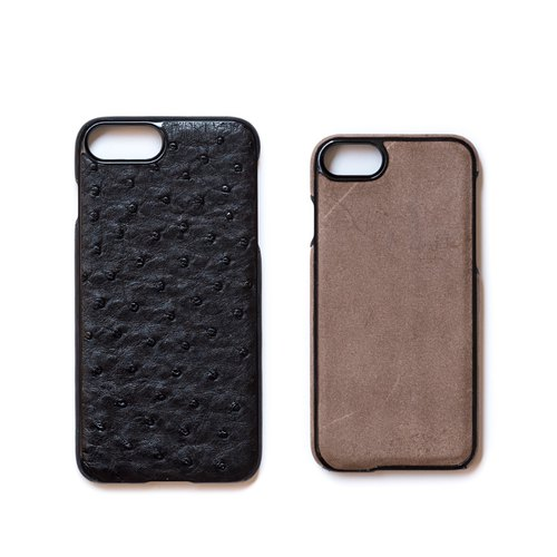 Patina handmade custom leather phone case LF55 inside and outside leather iPhone exclusive