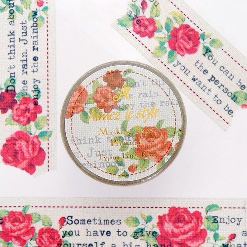 Aimez le style paper tape - typing Rose <A01467>