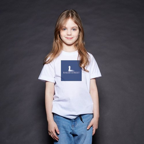 British Fashion Brand [Baker Street] Is Not a Swan Printed T-shirt For Kids