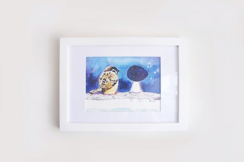 Even hand-painted paintings frame