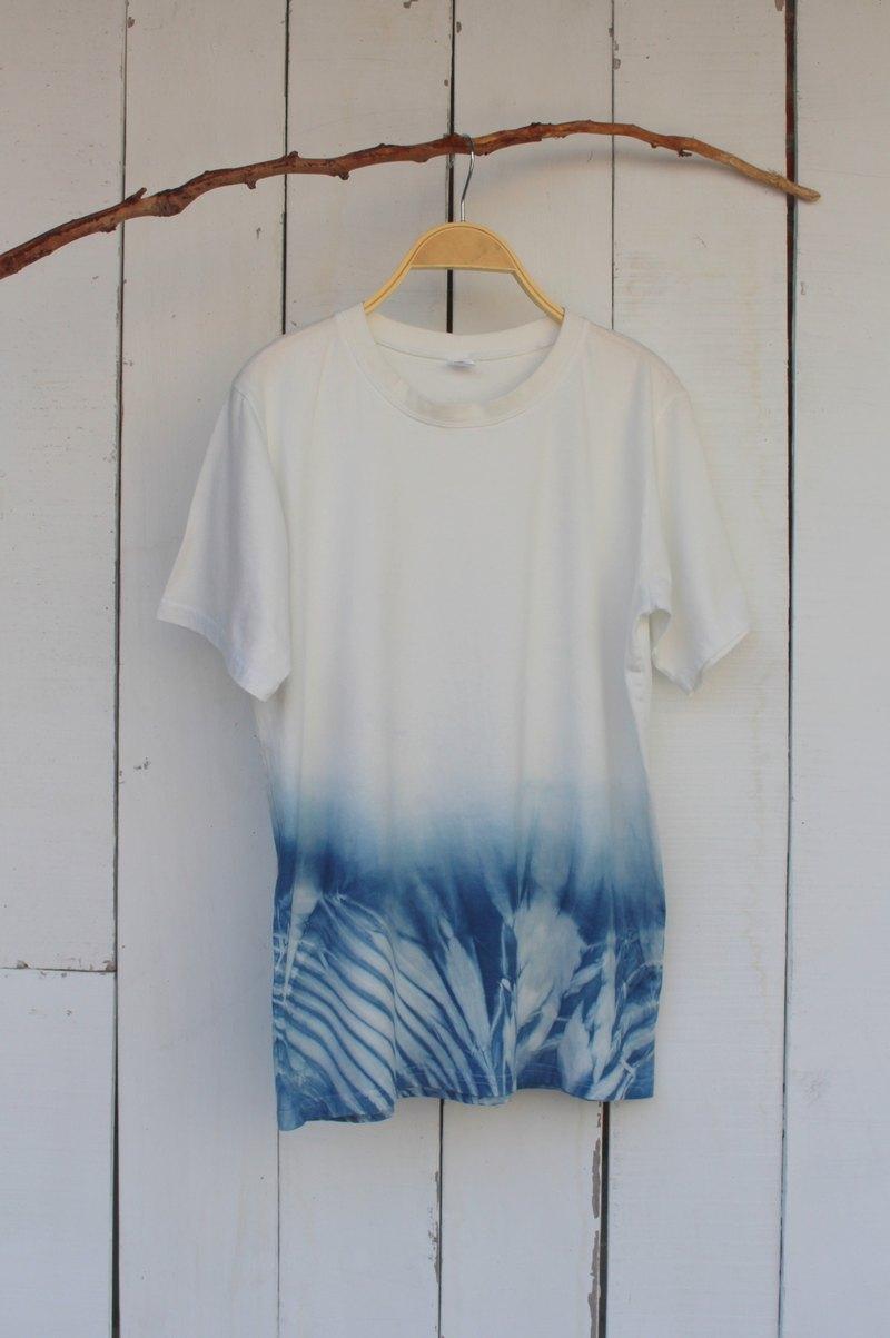 自在染isvara 手工藍染 純粹系列 源源 純棉T-shirt
