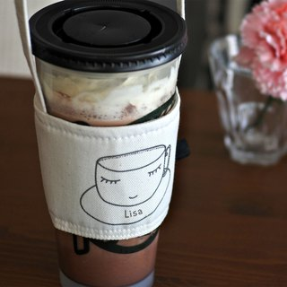 Travel Cup Holder,Sleepy Cup,Cute Custom Print Name,Iced Coffee Cup holder