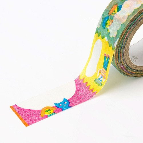 Japanese illustration paper tape - graffiti family