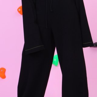 ARTERY WIDE SWEATPANTS full-length trousers black wide elastic