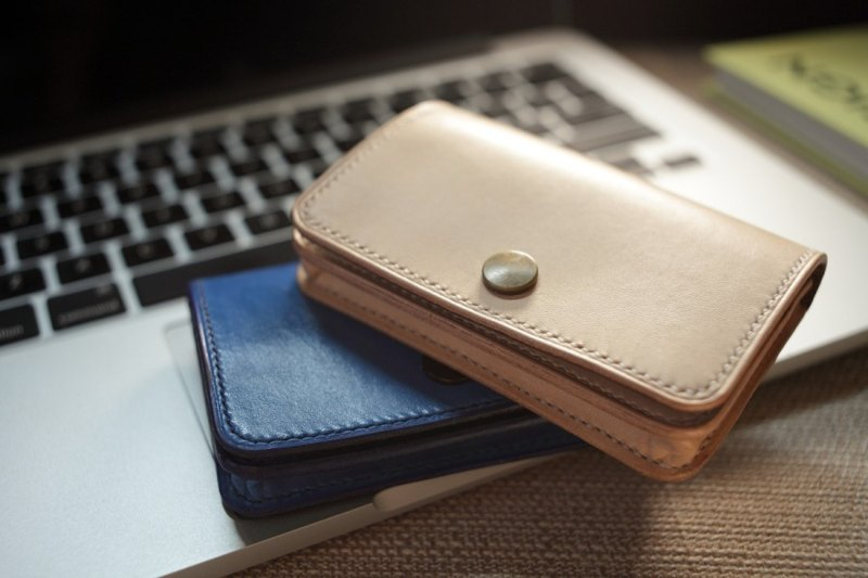 Natural vegetable tanned leather handmade large-capacity card package card holder card holder