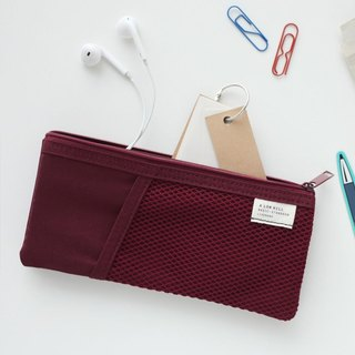 Livework casual style double pencil case - raspberry red, LWK51660