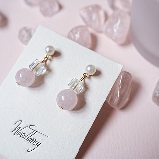 Rose Quartz Non allergic earrings