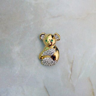 Valentiono tailless cub antique brooch