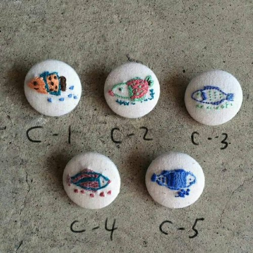 Embroidery fish pin -C style series