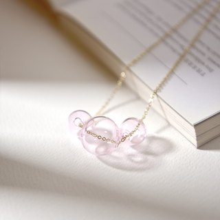 BACI PINK - Pink Glass Bubbles Necklace