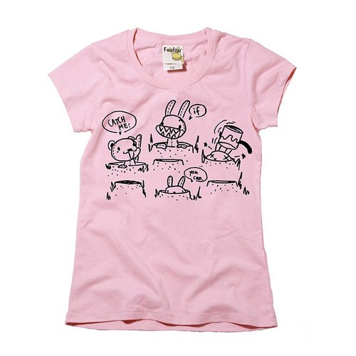 """Foufou"" flocking Short T -! Catch Me If You Can (pink)"