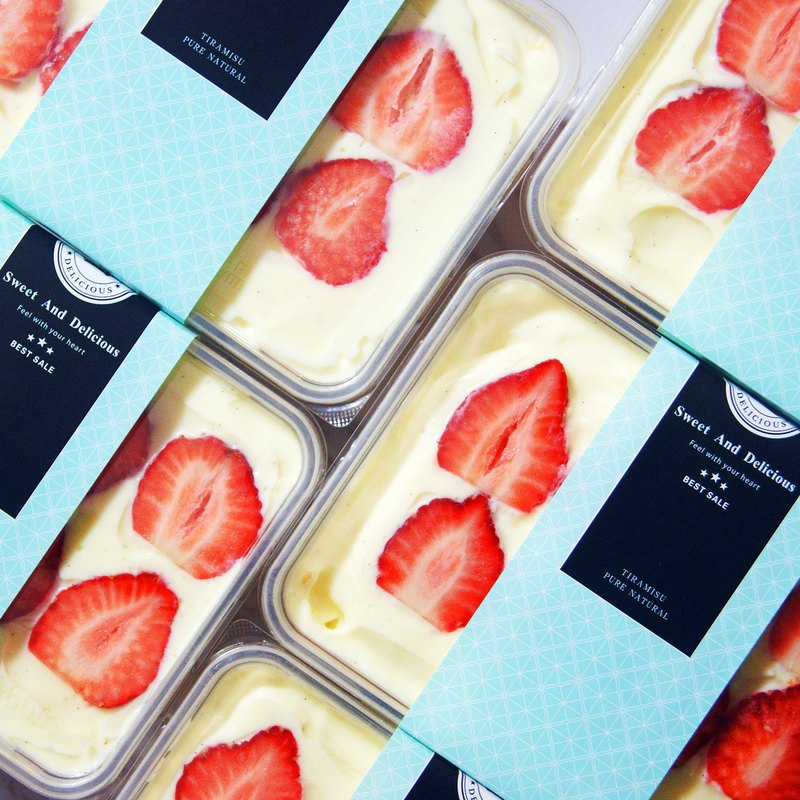 Vanilla Custard Strawberry Box (two boxes free shipping) / Strawberry can be eaten at every bite
