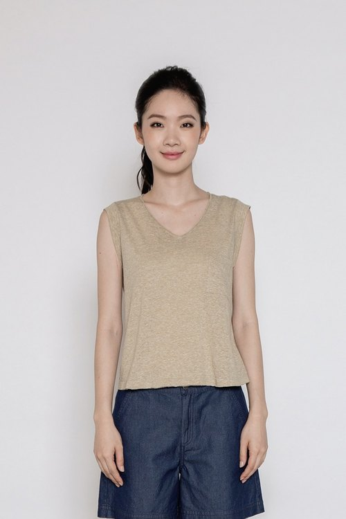 Countryside Sleeveless Top - Tea Green
