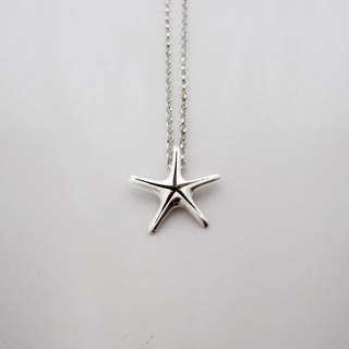"S Lee-925 Silver Handmade Animal Kingdom Series - Small Sea Star 16 ""Chain (Solid / Electroless)"