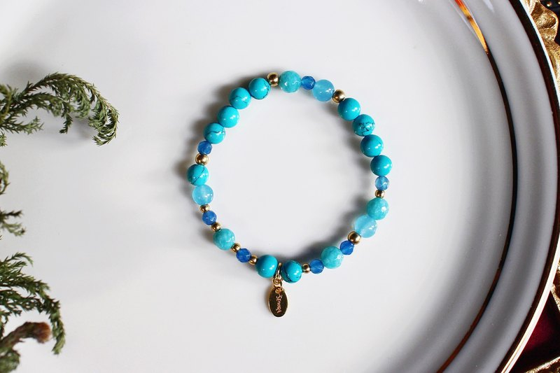 <Slow and warm natural stone series>C1052 Turquoise Bracelet