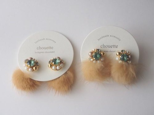 Mink fur Pierce (Camel)