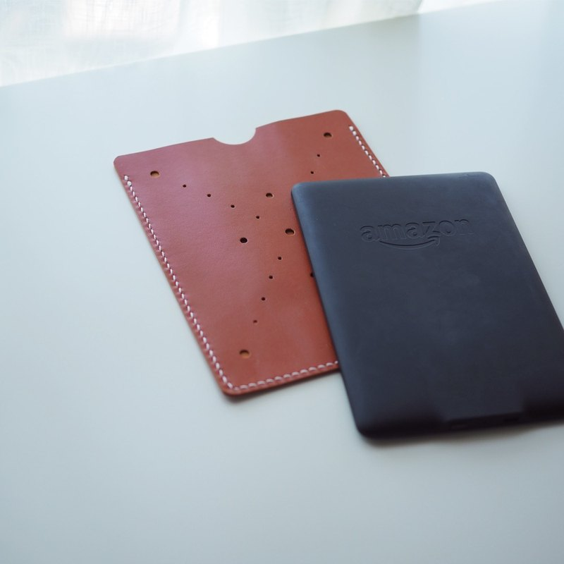Leather Cover電子書皮套: Kindle Paperwhite Cover - L018 小羊皮 (橘色/皇家藍/黑巧克力/深橘紅漆皮)