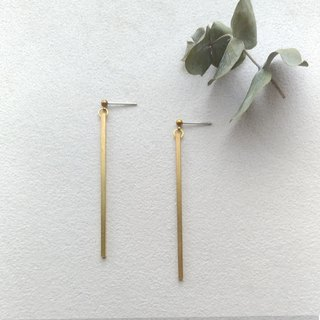 1+1 Brass Pin Clamp Earrings