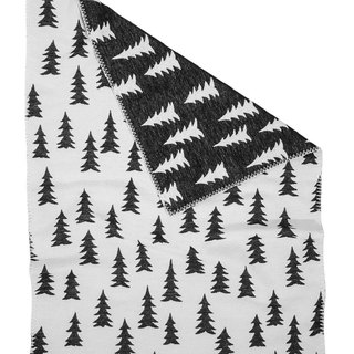 Forest Organic Cotton Brush Blanket Black and White – GRAN WOVEN CHILD BLANKET (Black&white)