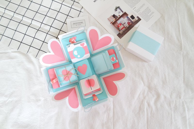 Gift Box Cards Water Sweetheart X Deluxe Organ Version Handmade