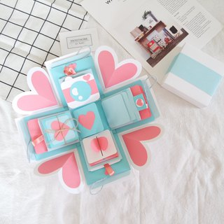 Gift Box Cards - Water Sweetheart x Deluxe Organ Version - Handmade Cards / Valentine Card / Explosion Card / Explosion Box