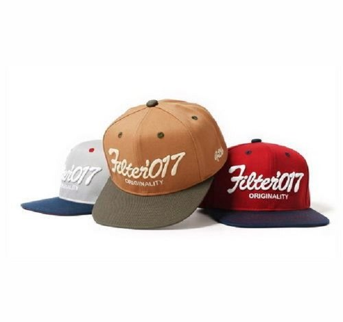 Filter017 Vintage Fonts Snapback Cap / retro font button baseball cap