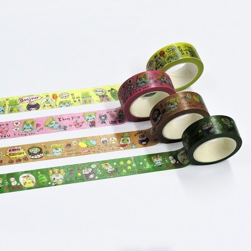 [Large] + Mini sipping surface capitalists Han original hand-painted paper tape group (a set of four volumes) Boxed